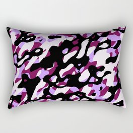 Purple Camo Rectangular Pillow