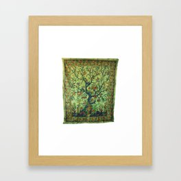 Tree of LIfe Tapestries Wall Hanging Framed Art Print