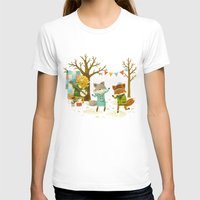 spring T-shirts featuring Critters: Spring Dancing by Teagan White