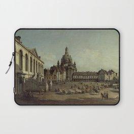 Bernardo Bellotto - View of the Neumarkt in Dresden from the Jüdenhofe Laptop Sleeve