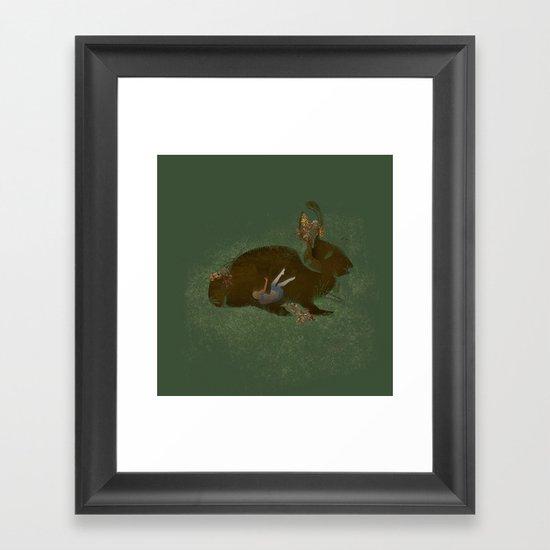 Burrow Framed Art Print