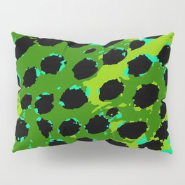 Cheetah Spots in Green and Blue Pillow Sham