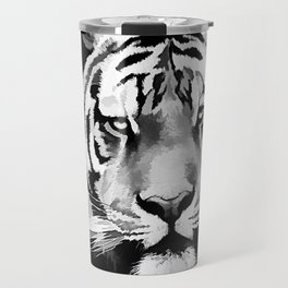 Tiger Black and white Travel Mug