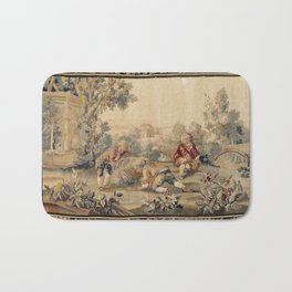 Aubusson  Antique French Tapestry Print Bath Mat