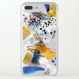 Colorful abstract watercolor painting Clear iPhone Case