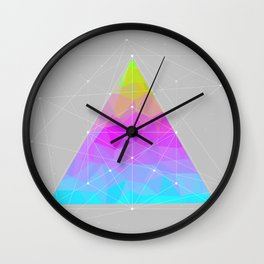 The Dots Will Somehow Connect (Geometric Pyramid) Wall Clock