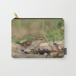 Young sparrow at watter Carry-All Pouch