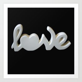 Love is the Word Art Print