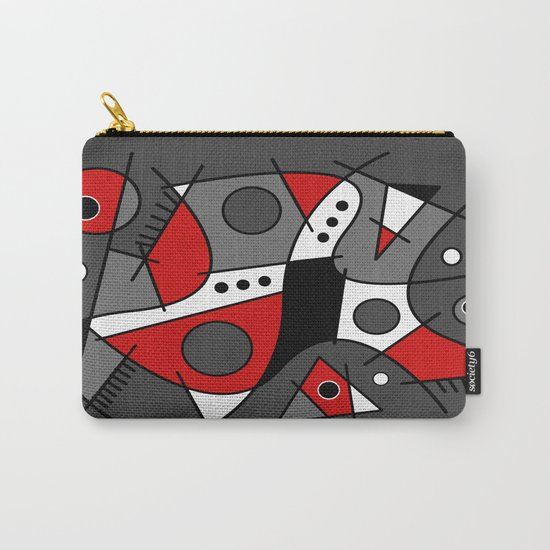 Abstract #233 Harlequin Carry-All Pouch