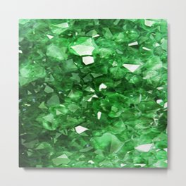 EMERALD GREEN CRYSTALS  MAY BIRTHSTONE Metal Print