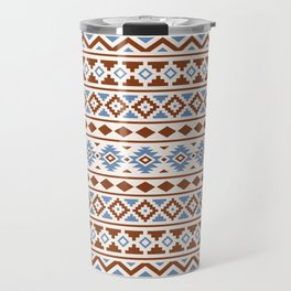 Aztec Essence Pattern II Rust Blue Cream Travel Mug