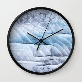 Light steel blue clouded wash drawing Wall Clock