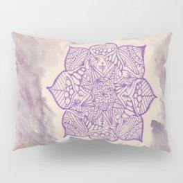 purple mandala watercolor Pillow Sham