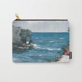 Winslow Homer - Rocky Shore, Bermuda, 1900 Carry-All Pouch