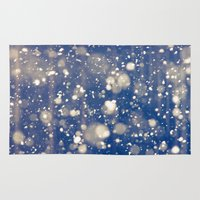 snow Area & Throw Rugs featuring Snow by Loaded Light Photography