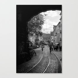 Streets of Freiburg Canvas Print