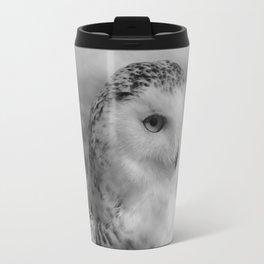 Snowy Owl - B & W Travel Mug