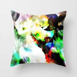 Color Bubbles Throw Pillow
