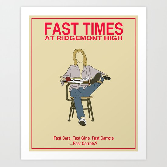 Fast Times at Ridgemont High Movie Poster Art Print