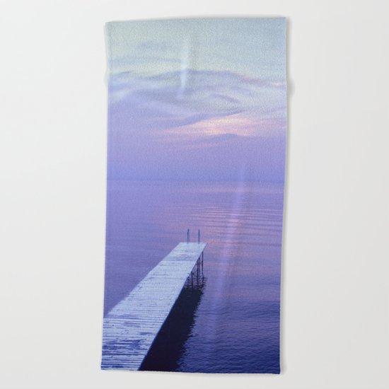Long Dock Coastal Potography Beach Towel
