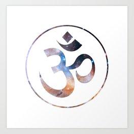 Om stars symbol Art Print