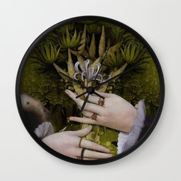 """""""The hands of Bosch and the Spring"""" Wall Clock"""