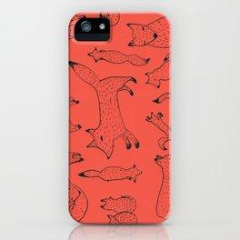 Orange foxes iPhone Case
