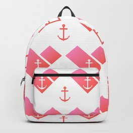 Florida Scarf Anchor Pattern Backpack