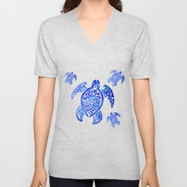 Crowned Turtle Unisex V-Neck