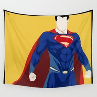 super hero Wall Tapestries featuring Super by Mi Absurda Osadía