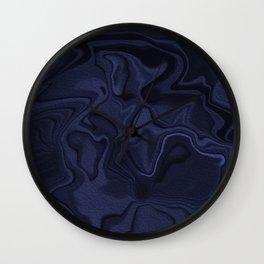 Blue and Black Abstract Artwork Wall Clock