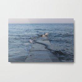 Across The Pier Metal Print
