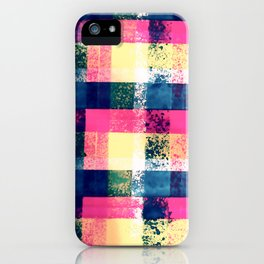 Graffiti Plaid Hand Painted Print By James Thomas Ryan iPhone Case