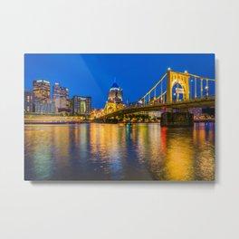 The Roberto Clemente Bridge Metal Print