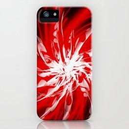 Dark Red Organic Spiral iPhone Case