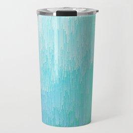 Rainforest - Blue & Green Glitch Travel Mug