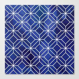 Geometric Crystals: Sapphire Night Canvas Print