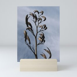 SCULPTURAL BLACK SEED HEADS Mini Art Print