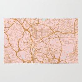 Kuala Lumpur map, Malaysia Rug