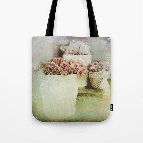 Vintage Street Flowers Tote Bag