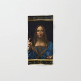 Leonardo da Vinci - Salvator Mundi - Digital Restored Edition Hand & Bath Towel