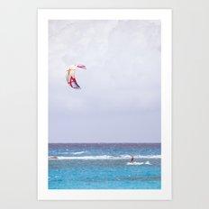 kite surfin' Art Print