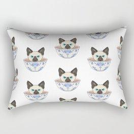 Cat in a Cup Rectangular Pillow