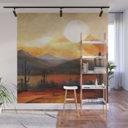 Desert in the Golden Sun Glow Wall Mural