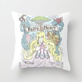 Mavis - The Fairy Heart Throw Pillow