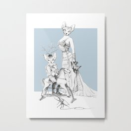 Weird & Wonderful: Bald and Beautiful Metal Print