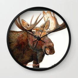 Michelangelo Moose Wall Clock