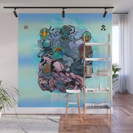 The Aqualine Water Tribe of The Southern Oceans Abyss Wall Mural