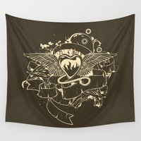 evil Wall Tapestries featuring Evil Heart by MaNia Creations