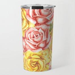 Pretty Watercolor Flowers Travel Mug
